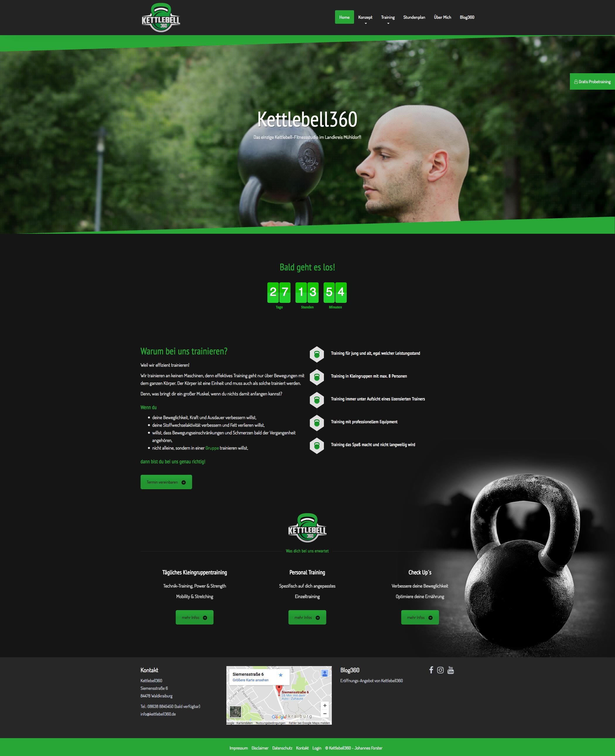 Website Kettlebell360 - Johannes Forster